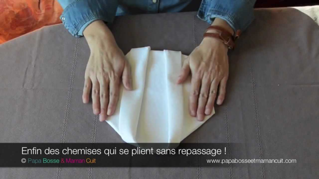 Pliage De Serviette Le Pliage De Serviette Chemise Youtube