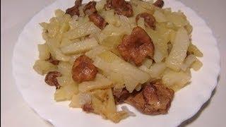 Картошка, жареная с лисичками