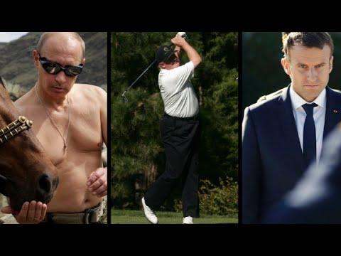 Trump, Putin, Macron ... who's the most macho?