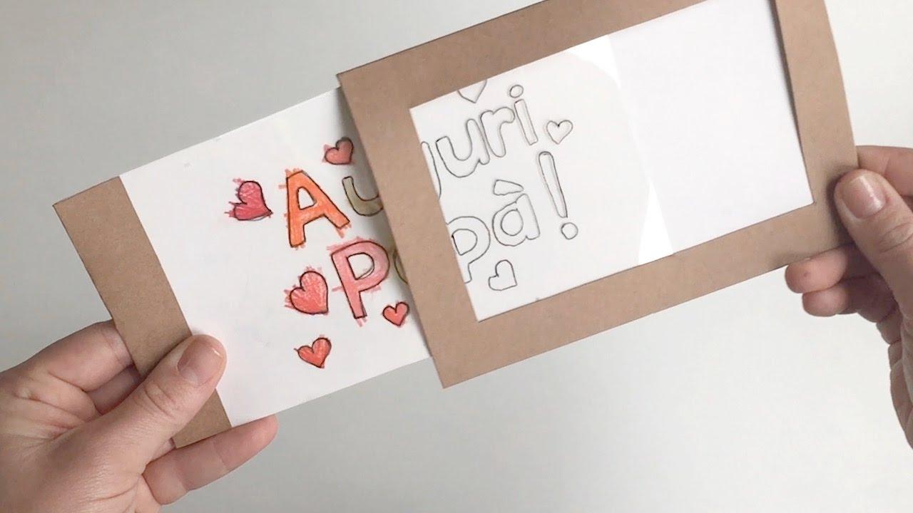 Eccezionale Biglietto di auguri per la Festa del Papà - Tutorial - YouTube NW16