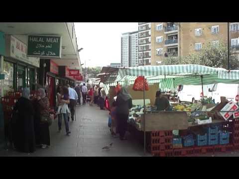 Walking through Church Street Market, London - Thursday 29th August 2013