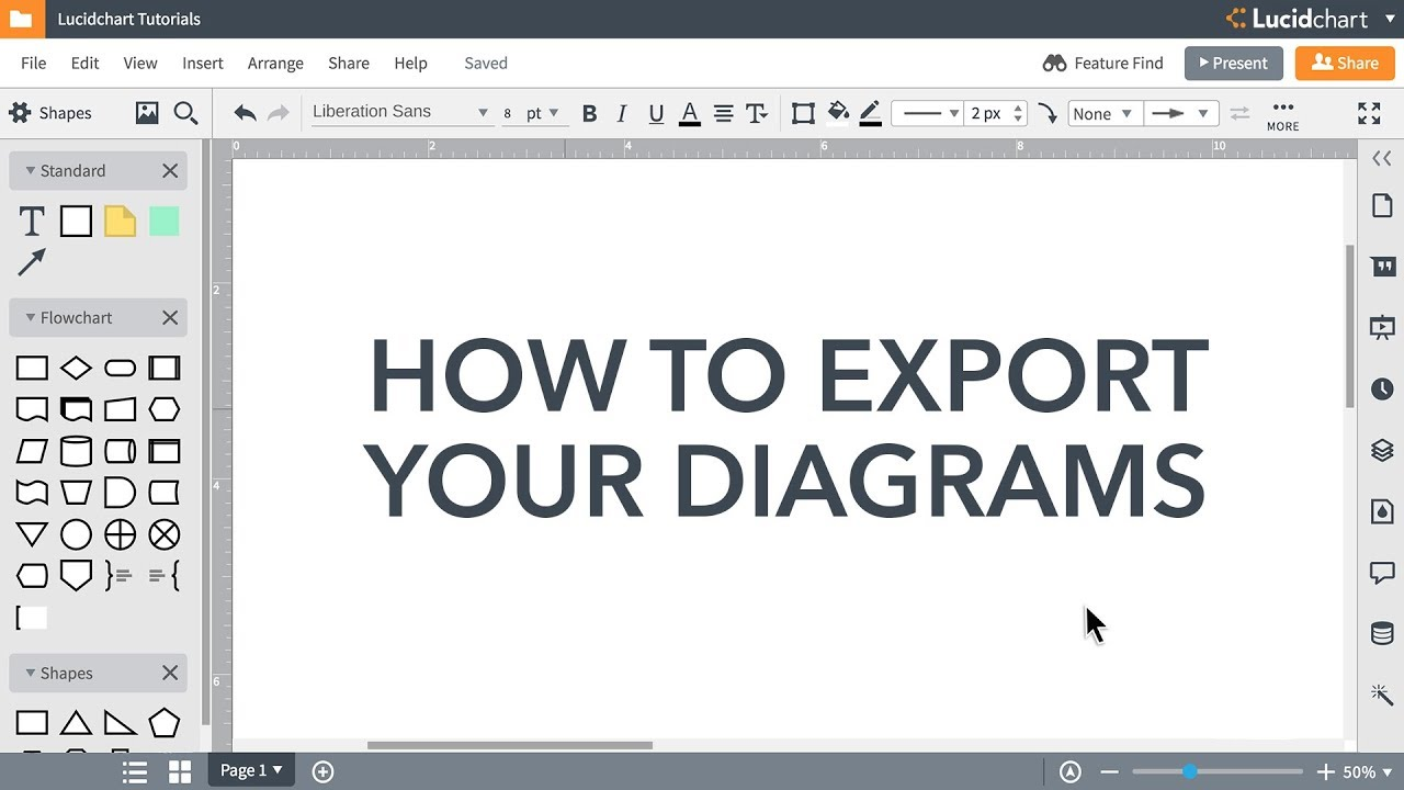 How to Export a PDF, Image, or Visio Doc [Video] | Lucidchart