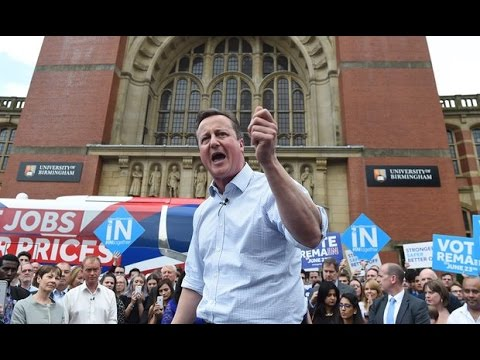 David Cameron's Final Plea for Britain to Vote to Remain in the European Union
