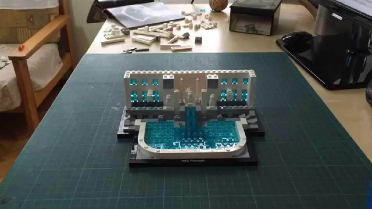 lego architecture trevi fountain youtube. Black Bedroom Furniture Sets. Home Design Ideas