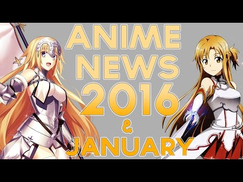 Anime Related News for Half of 2016 -KohzzyJo