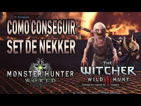 COMO CONSEGUIR SET DE NEKKER PARA EL GATO - Monster Hunter World (Gameplay Español) thumbnail