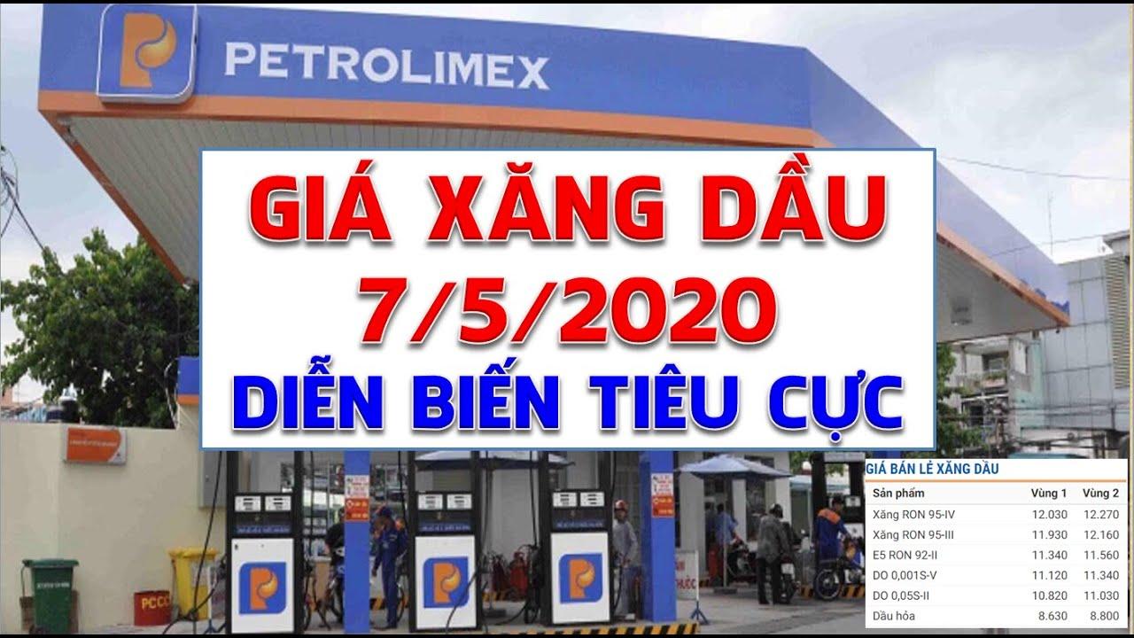 Giá xăng dầu hôm nay 7/5/2020: Diễn biến tiêu cực khi tồn kho tăng cao nhất