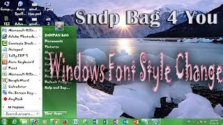 computer best Windows tips and Tricks 2019 part 4 Change Windows  Font style and Menu bangla