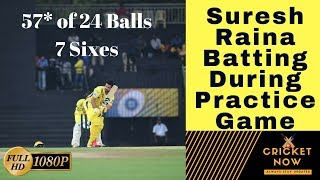 [HD] Suresh Raina hitting sixes during csk practice game