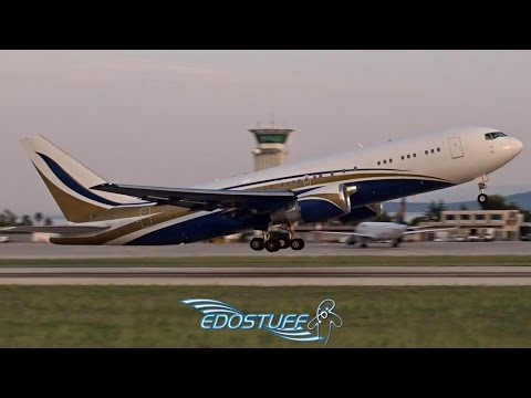 RARE! Mid East Jet - Boeing 767-29N/ER N767KS  - Takeoff from Split Airport LDSP/SPU