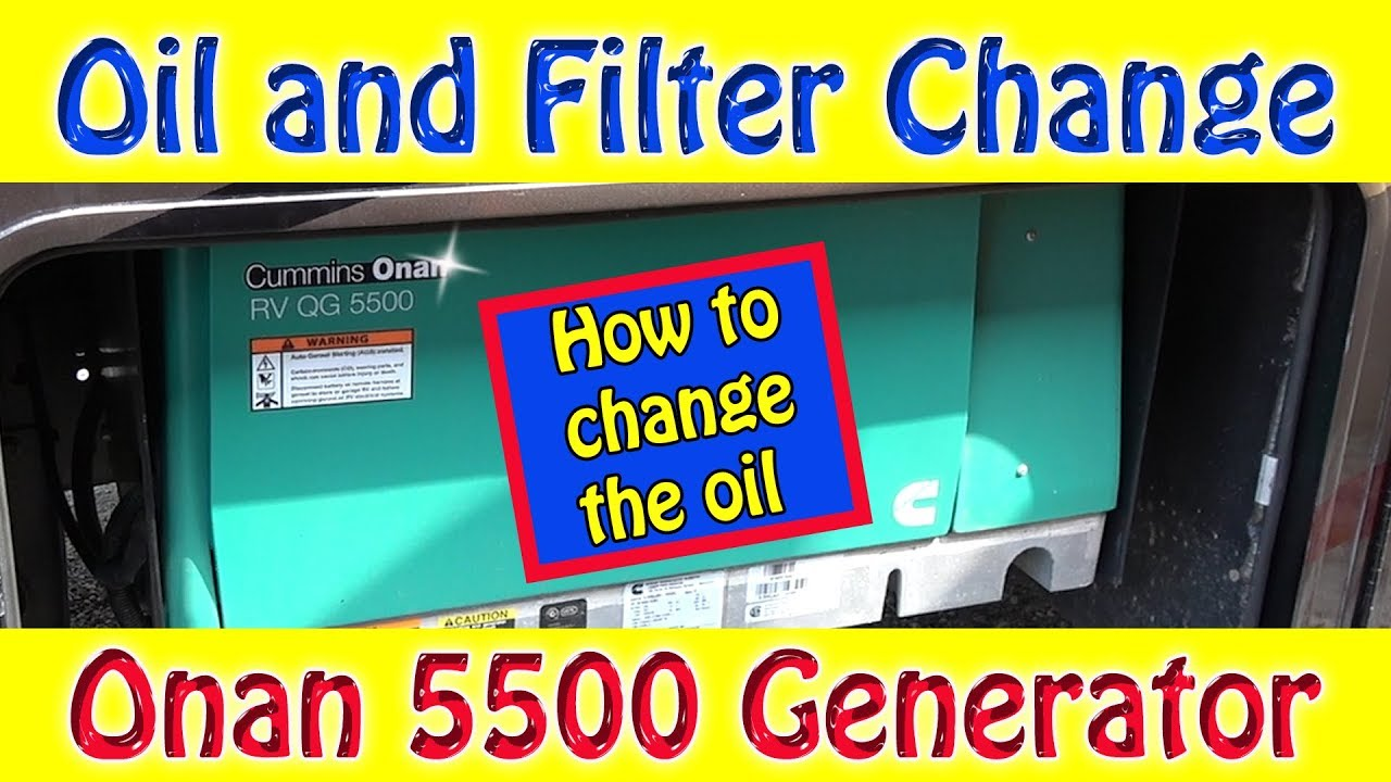 onan 5500 oil and filter change how to do a generator. Black Bedroom Furniture Sets. Home Design Ideas