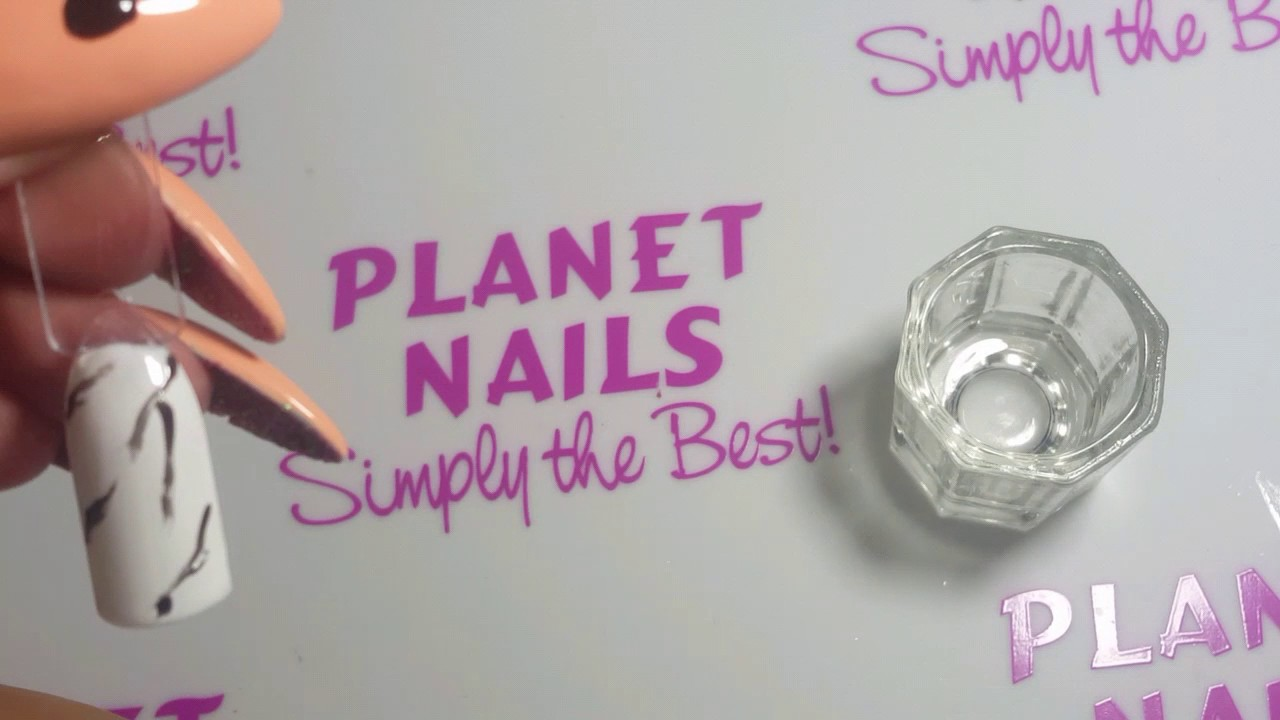 Planet Nails Marble Effect Nail Art