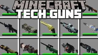 Minecraft EXTREME TECH GUNS MOD / DEATH RAYS AND NUCLEAR WEAPONS!! Minecraft