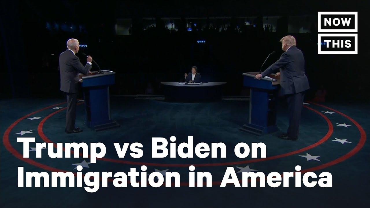 Debate 2020: Trump vs Biden on Kids Detained By ICE | NowThis