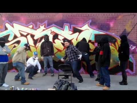 Graffiti Painting Harlem Shake In Brooklyn