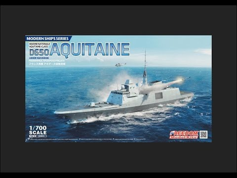 Freedom Model Kits 1/700 FREMM D650 Aquitaine Scale Model Review