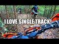 Dirt bike Q&A!  KTM 300XCW 2 Stroke Single Track Ride!