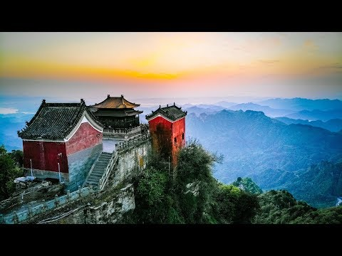 The Wudang Mountains - Short Film, Scenic Drone Shots. Birthplace of Wudang Tai Chi and Kung Fu.