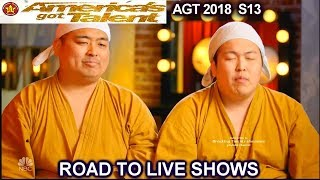 Yumbo Dump Funny Body Sounds Duo ROAD TO LIVE SHOWS America's Got Talent 2018 AGT