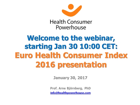 The best healthcare of Europe 2016 - now on Youtube!