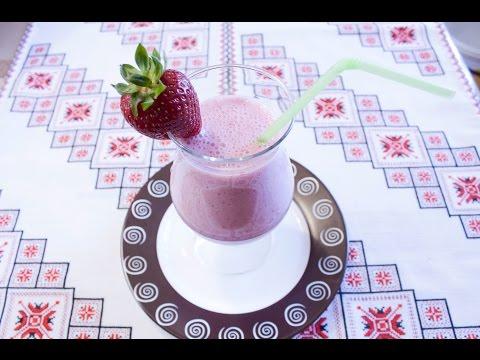 РЕЦЕПТ МОЛОЧНОГО КОКТЕЙЛЯ С КЛУБНИКОЙ Молочный коктейль в блендере МОЛОЧНИЙ КОКТЕЙЛЬ З ПОЛУНИЦІ