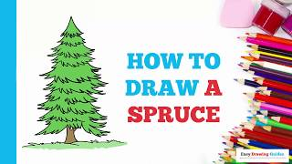 How to Draw a Spruce Tree in a Few Easy Steps: Drawing Tutorial for Kids and Beginners
