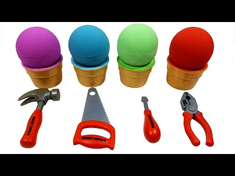 Thumbnail: Learn Colors with Kinetic Sand Ice Cream Surprise Tools Playset Toys