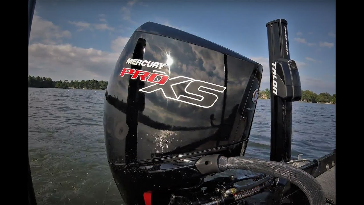 New Mercury ProXS 200HP V-8 First Run on Lund 1875 Pro-V Bass Boat