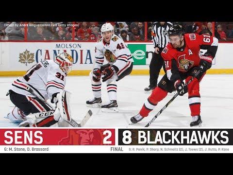 Jan 9: Sens vs. Blackhawks - Players Post-game