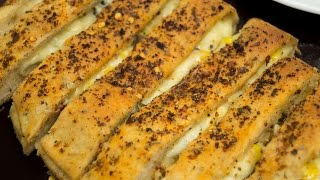 Cheesy Garlic Bread Sticks Recipe / Stuffed Garlic Bread Sticks