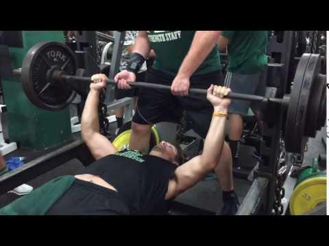 Brody Hoying Bench PR - 290
