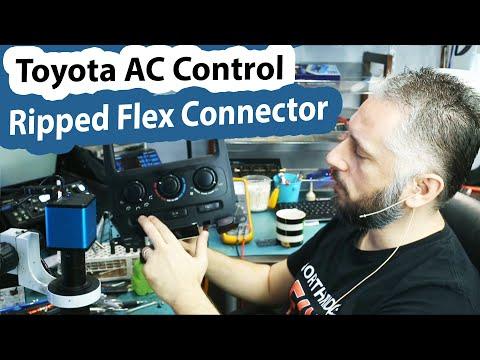 Toyota AC Control unit - Ripped Flex Connector