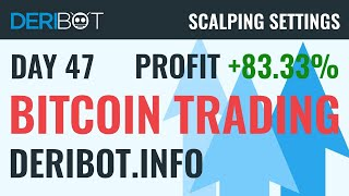 Day45: +79% Profit. Bitcoin Live Trading With Crypto Trading Robot DeriBot on Deribit.