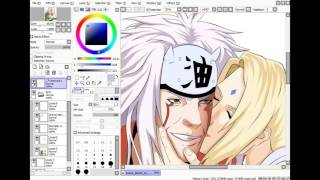 Jiraiya and Tsunade speedpaint by suiken