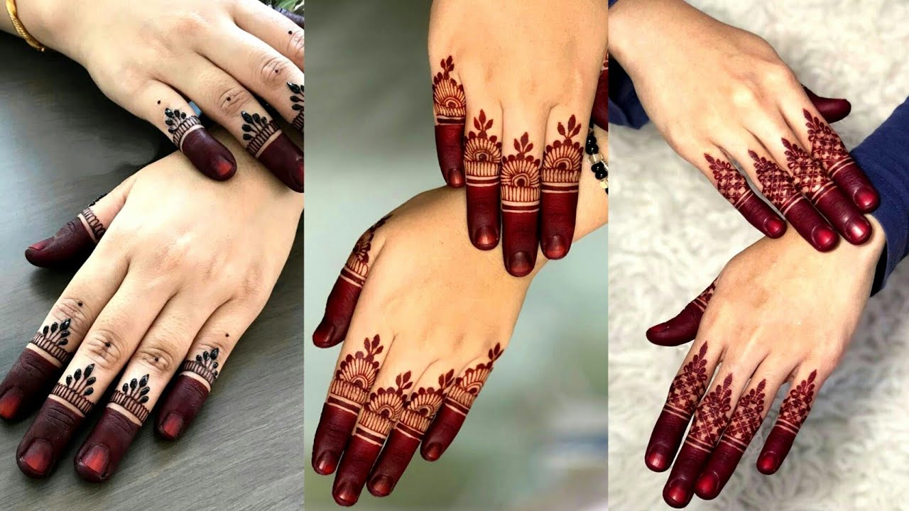 mehndi designs for fingers simple