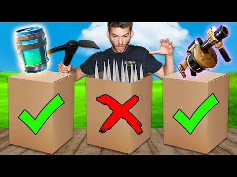 DONT Open the WRONG Fortnite Mystery Box in Real Life!!