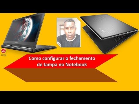 Como configurar o fechamento de tampa no notebook