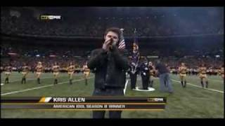 Download Kris Allen - National Anthem @ NFC Championship Game MP3 song and Music Video