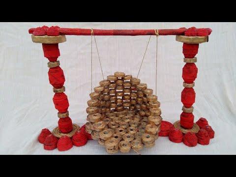 How to make bal gopal jhula /swing | newspaper swing | HMA##076
