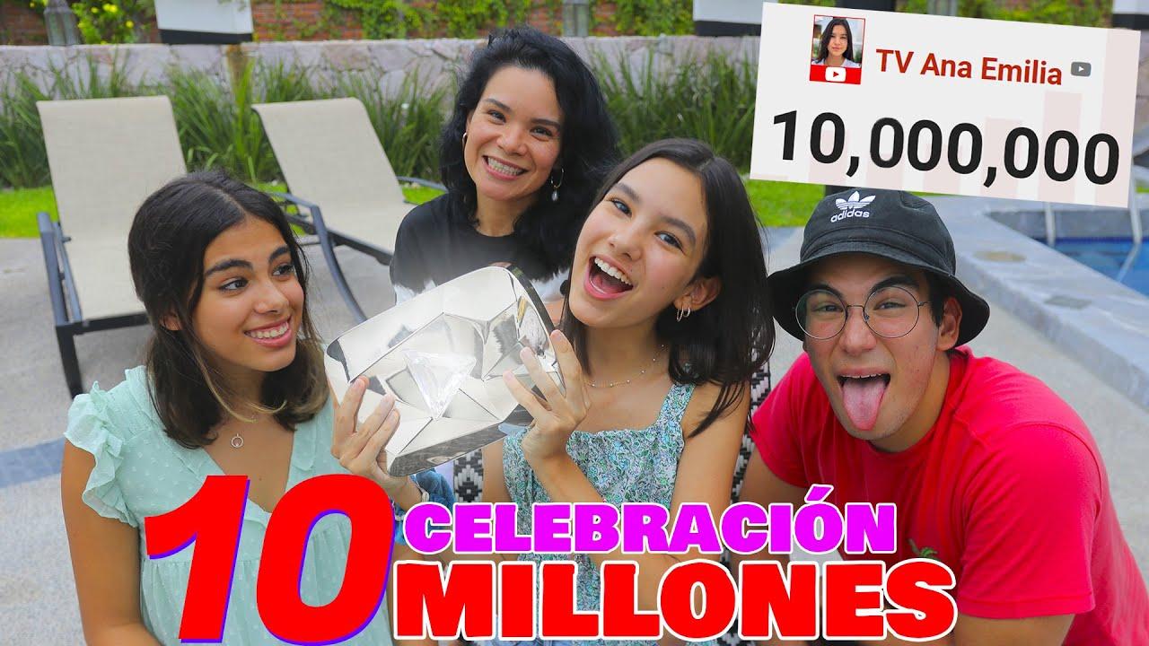 CELEBRACIÓN 10 MILLONES, LLEGAMOS JUNTOS Y TENEMOS BOTÓN DE DIAMANTE | TV Ana Emilia