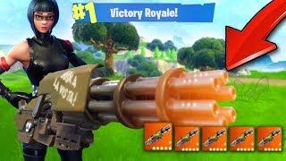 SEE THE MINI GUN HERE FIRST! (Fortnite Battle Royale)