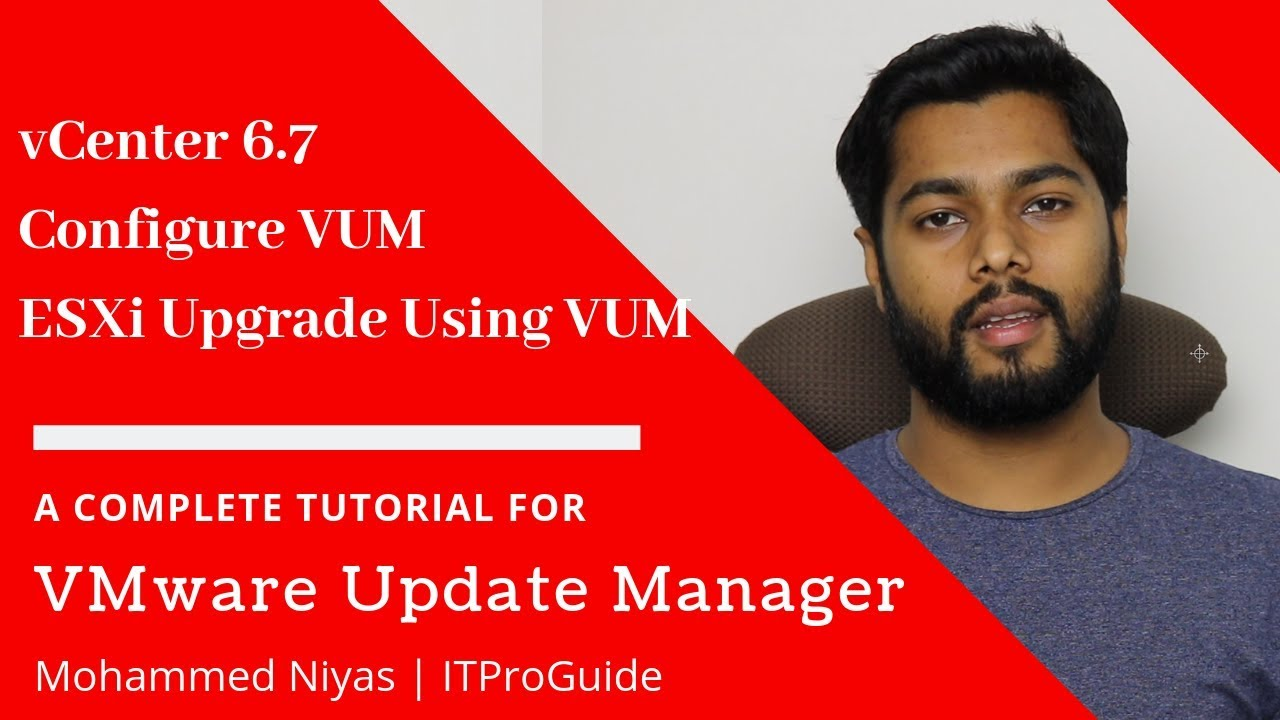 How to Upgrade ESXi Host using VMware update manager in vCenter Appliance  6 7 - Full Demo