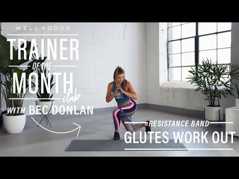 The 14-minute resistance band workout that will set your buns ablaze