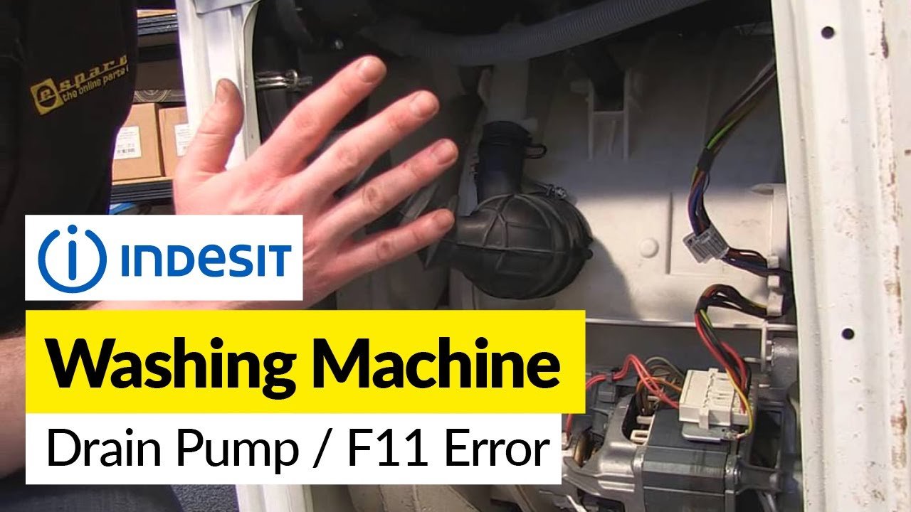 indesit washing machine pump replacement and f11 error [ 1280 x 720 Pixel ]
