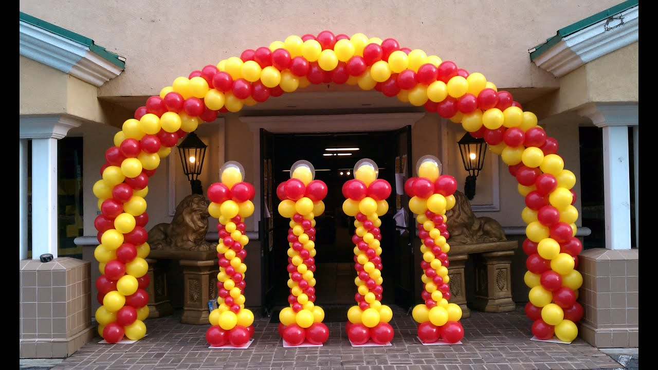 Exceptional How To Make A Balloon Arch   Balloon Decoration Ideas   YouTube