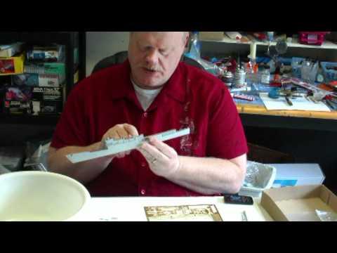 USS Knox resin model build: part 1