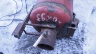 Как сделать буржуйку из газового баллона своими руками // furnace gas bottle