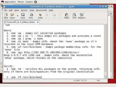 Redhat Enterprise linux 5 RPM Package Management-Part2
