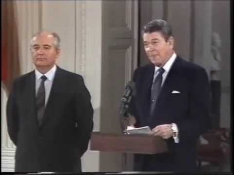 Ronald Reagan visits the Kremlin