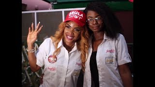 iyabo ojo her daughter having fun at the opening of her restaurant see prices of their foods